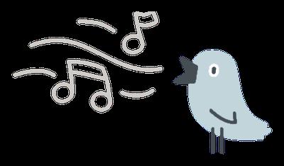 ilustracja śpiewający ptaszek