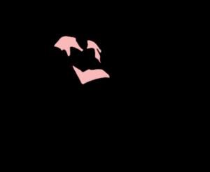 grafika: postać z książkami