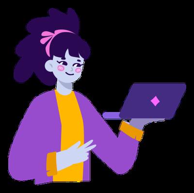 grafika: postać z komputerem